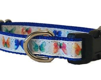 Butterfly Small Dog Collar | Puppy Collar | Small Dog Leash | Small Dog Harness | Adjustable Dog Collar