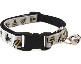 Bumble Bee Cat Collar | Yellow Jacket | Breakaway Cat Collar | Kitten Collar | Safety Collar | Adjustable Cat Collar | Fat Cat Collar
