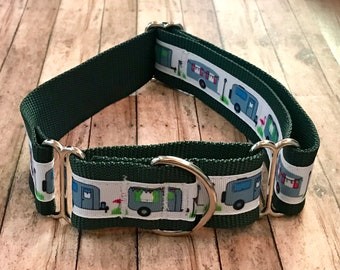Airstream Camper Wide Dog Collar | Wide Dog Collar | Wide Quick Release Collar | Wide Martingale Collar | Big Dog Collar