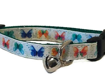 Butterfly Cat Collar | Breakaway Cat Collar | Kitten Collar | Safety Collar | Adjustable Cat Collar | Fat Cat Collar