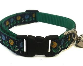 Floral Cat Collar | Breakaway Cat Collar | Kitten Collar | Safety Collar | Adjustable Cat Collar | Fat Cat Collar