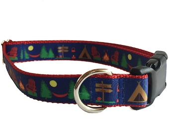 "1"" Camping Large Dog Collar 