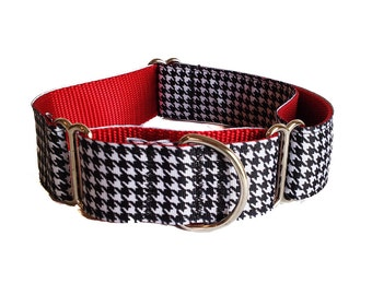 "Houndstooth Wide Dog Collar | 1.5"" Wide Dog Collar 