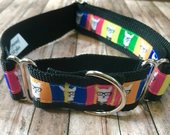 Hipster Llama Wide Dog Collar | Wide Dog Collar | Wide Quick Release Collar | Wide Martingale Collar | Big Dog Collar