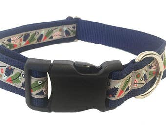 "1"" Feather Large Dog Collar 