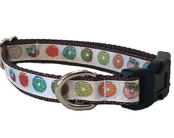 Donut Small Dog Collar   Puppy Collar   Small Dog Leash   Small Dog Harness   Adjustable Dog Collar