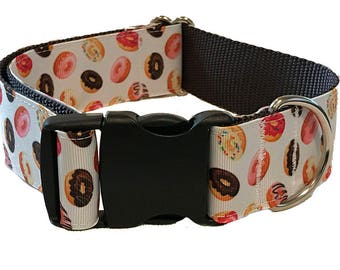 Donut Wide Dog Collar | Wide Quick Release Collar | Wide Martingale Collar | Big Dog Collar