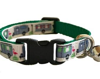 Camper Cat Collar | Airstream Cat Collar | Breakaway Cat Collar | Kitten Collar | Safety Collar | Adjustable Cat Collar | Fat Cat Collar