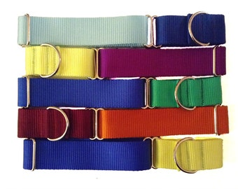 "Solid Color Nylon Martingale | 1.5"" Wide Martingale Collar 