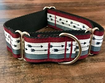 "Arrow Wide Dog Collar | 1.5"" Wide Dog Collar | Wide Quick Release Collar | Wide Martingale Collar | Big Dog Collar"