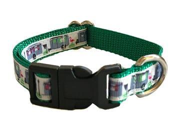 Camper Small Dog Collar | Airstream Small Dog Collar | Puppy Collar | Small Dog Leash | Small Dog Harness | Adjustable Dog Collar