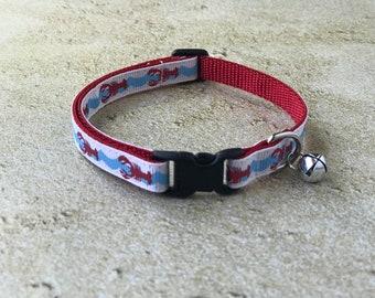 Lobster Cat Collar | Beach Cat Collar | Breakaway Cat Collar | Kitten Collar | Safety Collar | Adjustable Cat Collar | Fat Cat Collar