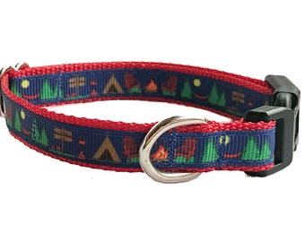 Camping Small Dog Collar | Puppy Collar | Small Dog Leash | Small Dog Harness | Adjustable Dog Collar