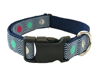 """1"""" Colorful Burst Large Dog Collar 