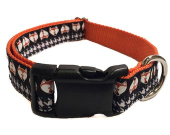 "1"" Fox Large Dog Collar 