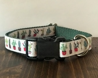 Cactus Dog Collar | Martingale Collar | Quick Release Collar | Dog Leash | Dog Harness | Adjustable Dog Collar