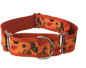 "Cute Animals Wide Dog Collar | 1.5"" Wide Quick Release Collar 