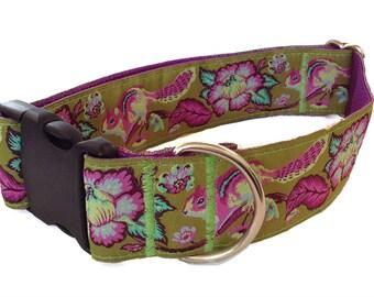 "Chipmunk Wide Dog Collar | 1.5"" Wide Dog Collar | Wide Quick Release Collar | Wide Martingale Collar | Big Dog Collar"