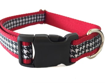 Houndstooth Large Dog Collar | Quick Release Collar | Martingale Collar | Large Dog Leash | Large Harness