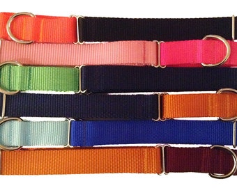 "1"" Solid Color Nylon Webbing Large Martingale 
