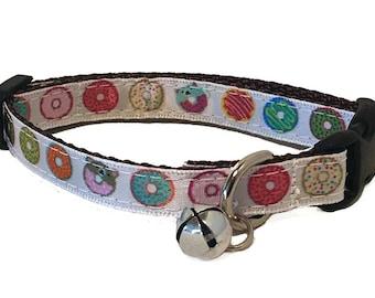 Donut Cat Collar | Cute Cat Collar | Breakaway Cat Collar | Kitten Collar | Safety Collar | Adjustable Cat Collar | Fat Cat Collar