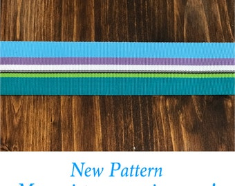"1.5"" Turquoise Stripe Collar Buckle or Martingale"