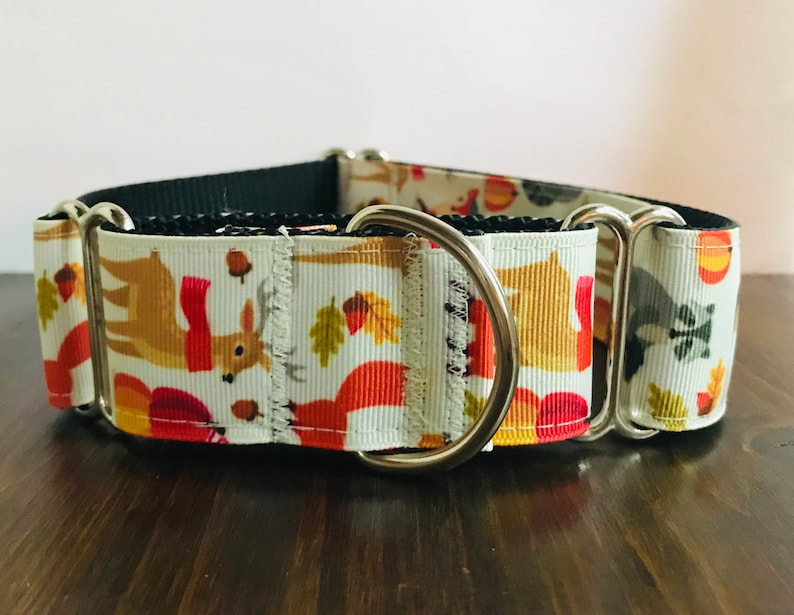 Fall Friends Wide Dog Collar Wide Martingale Collar 1.5 Wide Quick Release Collar Big Dog Collar