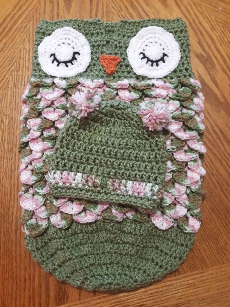 Handmade Baby Owl Cocoon