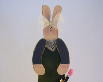 3  Servietten Bunny with Watering Can Häschen mit Gießkanne und Blumen Ostern