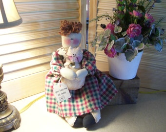 Doll with Kitty: You had me at hello Sissy with her kitty Belle
