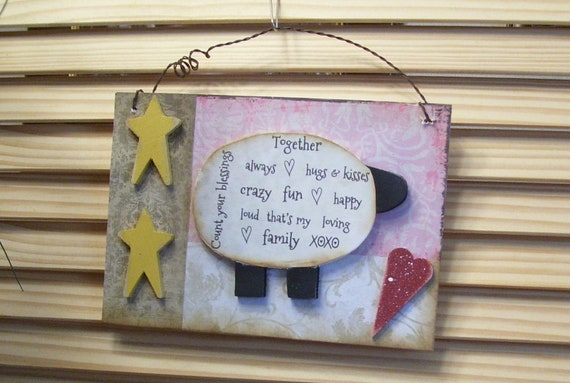 count your blessings sheep etsy