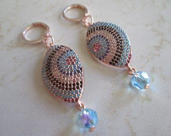 Evil Eye Swarovski Crystal Earrings
