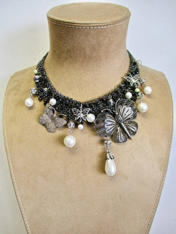 Butterfly Kisses Beaded Necklace