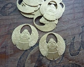 Brass Stamping Egyptian Revival Winged Scarab Brass Stampings