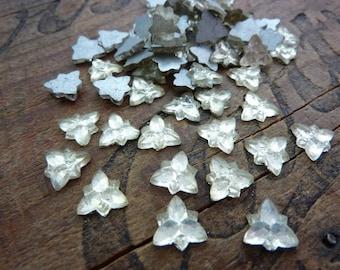 Vintage Glass Rhinestone Star Shape 10mm Three Point Star Crystal Glass Rhinestone Foiled Rhinestone Star (8pcs) A3C74