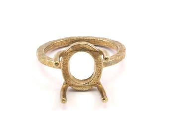 Ring Blanks N286 Claw Ring Setting 7 Raw Brass 4mm Ring Settings With 3 Claws