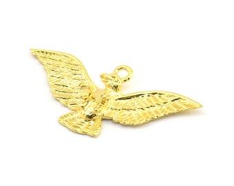Gold eagle pendant etsy gold eagle pendant 1 gold plated brass eagle charm eagle pendants 40x20mm n411 q110 aloadofball Gallery