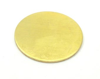 Round Personalized Blank, 10 Raw Brass Stamping Blanks, Tags Without Holes (25mm) B0111