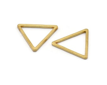 Raw Brass Triangle Earrings and Pendant 25.38x8.85x0.52mm Jewelry Supplies Brass Triangle Charms PP2413 Brass Triangle Necklace