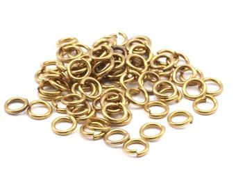 6mm Jump Ring - 500 Raw Brass Jump Rings (6x1mm)    A0357