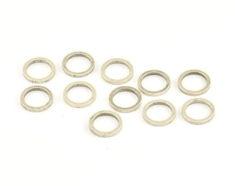 8mm 100 Antique Silver Plated Brass Circle Ring Findings b0117 H546 Silver Circle Ring