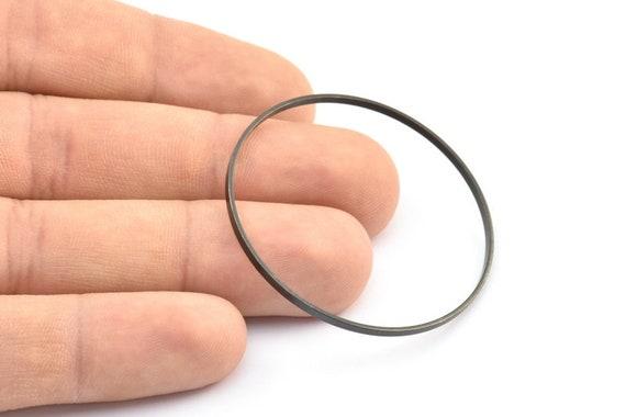Black Circle Connectors 45x0.75x1.8mm 6 Oxidized Brass Black Circle Connectors Bs 1072 S253