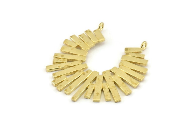36x39x1.2mm Findings Brass Charm Brass Pendant N1289 With 2 Loops Raw Brass