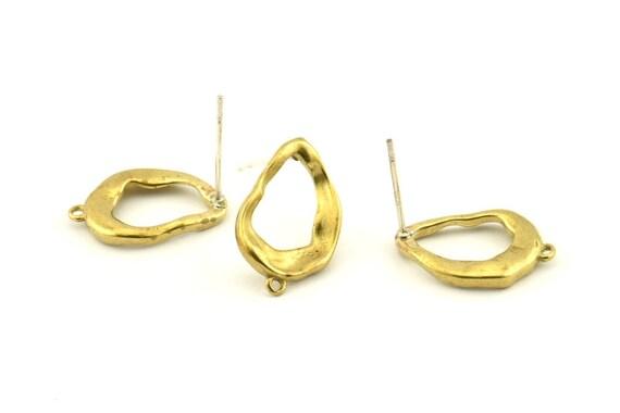 Findings 12 Raw Brass Duck Charm Earrings With 1 Loop Brass Duck Charm N895 8mm