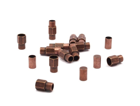 Brass Magnetic Clasp,5 Copper Brass Magnetic Clasp For 5 Mm Leather Cord (16.5x7mm) Y262