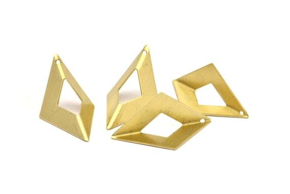 Raw Brass Origami Charms 6 Raw Brass Geometric Triangle Etsy