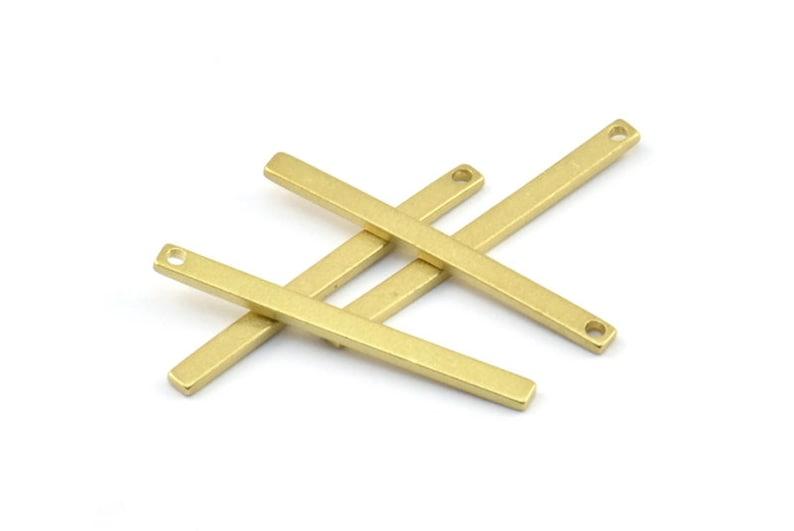 25x2x1mm BS 1198--A0858 Brass Necklace Bar 50 Raw Brass Bars