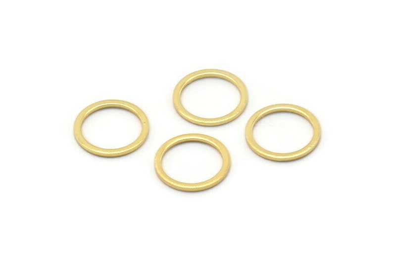 b0119 Q035 Gold Circle Rings Charms 12 Gold Plated Brass Round Rings 12mm