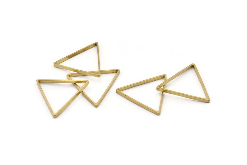 Bs 1195 Brass Triangle Charm 29x0.8x2mm 24 Raw Brass Open Triangle Ring Charms