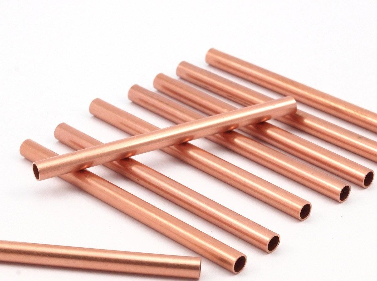 tube de perles 12 tubes de cuivre brut 4x60mm d476 en etsy. Black Bedroom Furniture Sets. Home Design Ideas